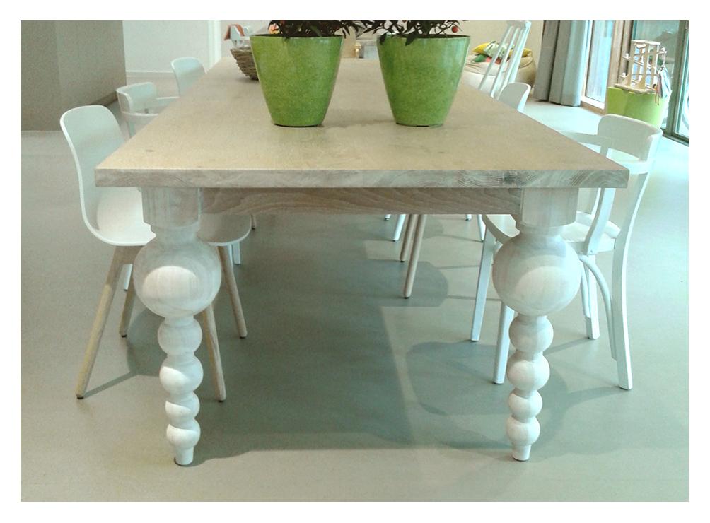 Houten Eettafel White Wash.Www Houtsmederij Nl Houten Eettafel Op Maat