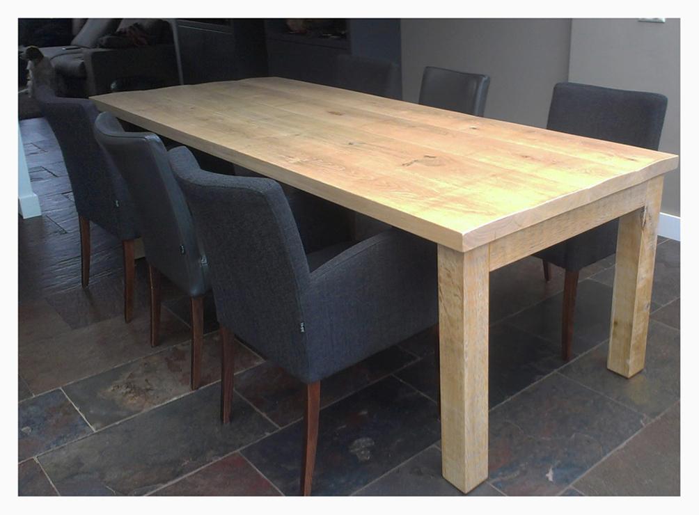 Eetkamertafel wit met houten blad eetkamertafel houten eettafels drenthe - Eettafel en houten eetkamer ...