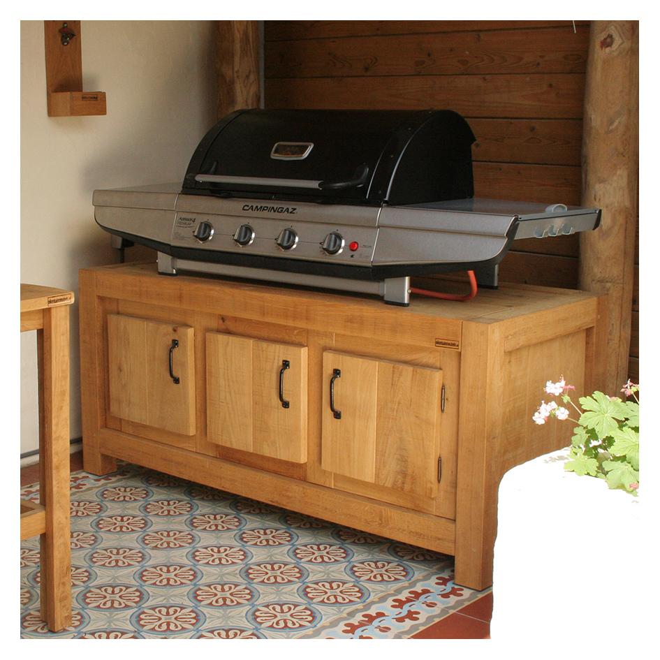 houten buitenkast op maat voor bbq