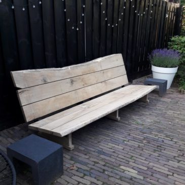 massief eiken loungebank
